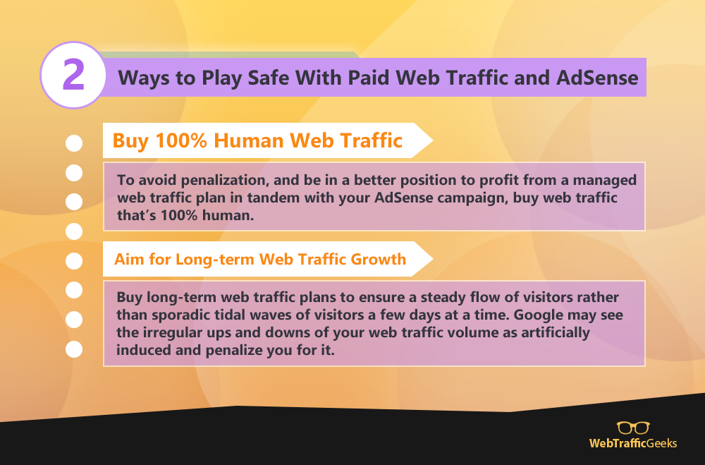 2 Ways to Play Safe With Paid Web Traffic and AdSense