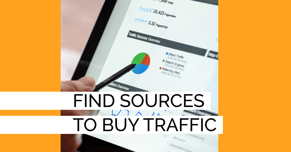Find sources to buy traffic